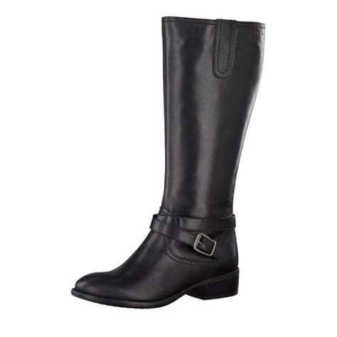 25623 21 black leather with buckle trim boot