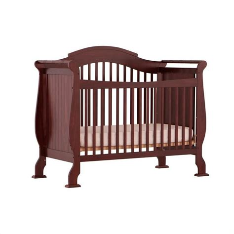 Convertible Crib Cherry 4 In 1 Fixed Side Convertible Crib In Cherry 04587 254