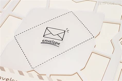 Handmade Envelope Template - kuretake handmade envelope template western version