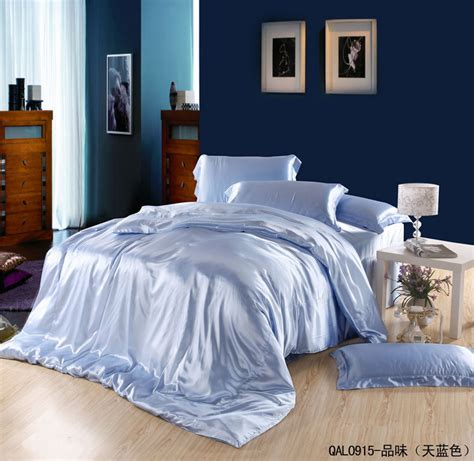 light blue bed set light blue silk bedding set satin sheets queen california