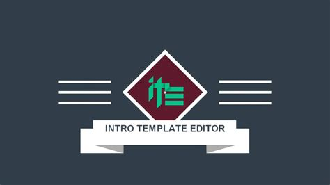 Intro Template Editor 3 Youtube Intro Template Editor