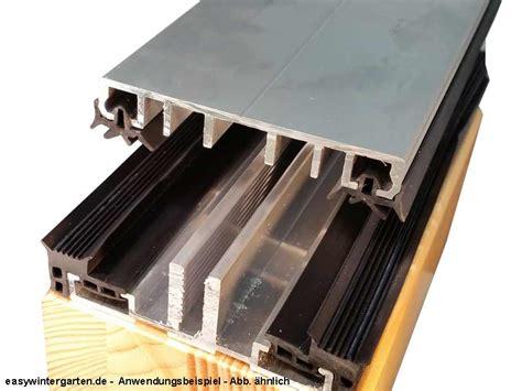 klemmprofile glasdach verlegeprofil mittelprofil komplettprofil 80 mm f 252 r vsg