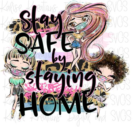 stay safe  staying home girls leopard png kalise