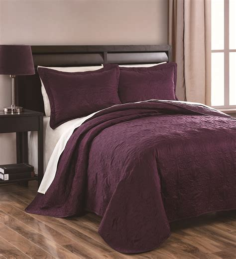 plum coverlet 3pcs queen sherry plum coverlet set