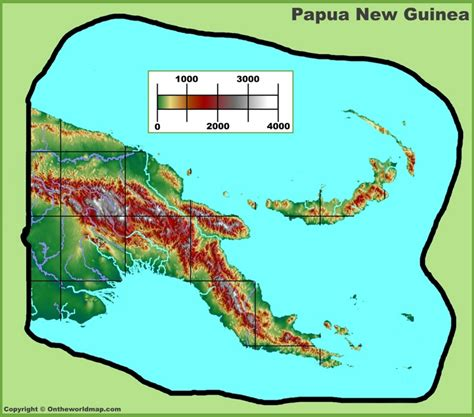 In Papua New Guinea Dodwell papua new guinea physical map
