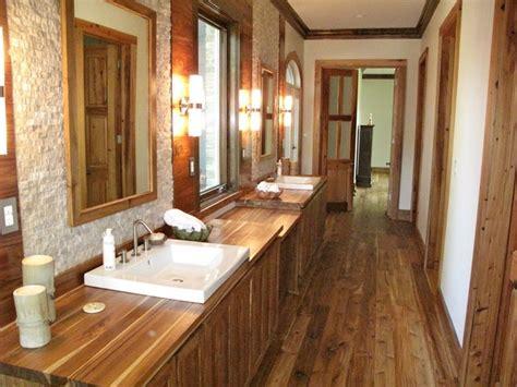 rustic bathroom flooring bathroom in private residence rustic grade teak lumber