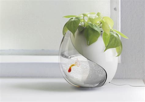 fish tank planter one pot two lives yanko design