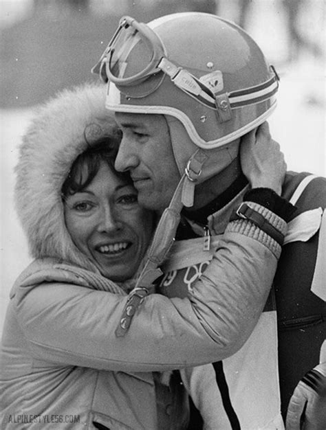 Guy Périllat and wife of France after his silver medal
