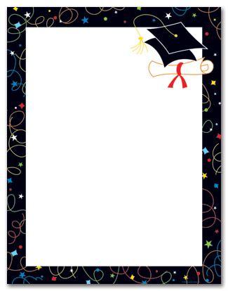 graduation note cards template graduation cap border clipart best