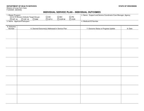 Individual Service Plan Template best photos of individual program plan sle individual