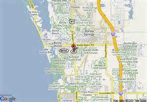 where is bonita springs florida on a map map of americinn of bonita springs fl bonita springs