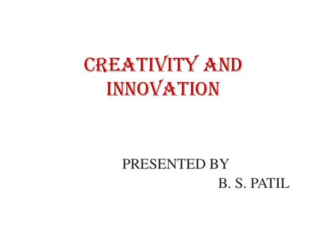Mba In Innovation Vs Strategy by Creativity And Innovation Ppt Mba