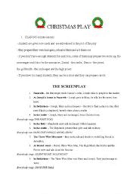english teaching worksheets christmas play scripts