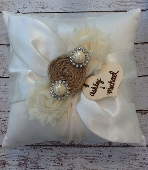 Personalized Ring Bearer Pillows by Ring Bearer Pillow Burlap Personalized By