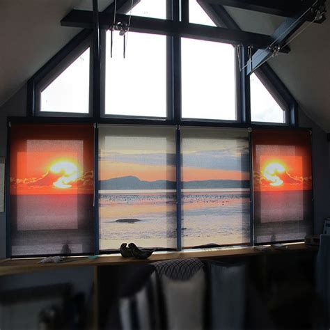 Custom L Shades by Custom Blinds Printed For Your Window Custom Roller Shades With Photo