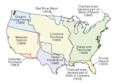 american lands cession map treaty of guadalupe hidalgo mexican cession treaty facts map