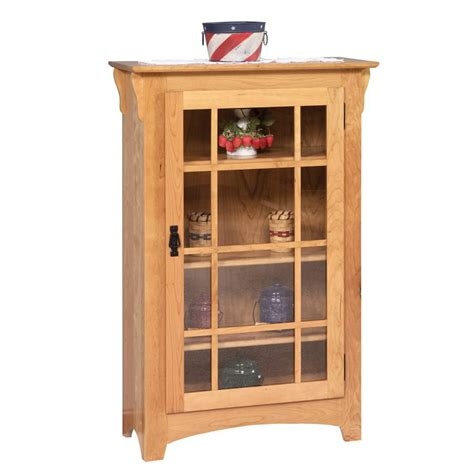 entryway bookcase small mission single door bookcase amish crafted furniture
