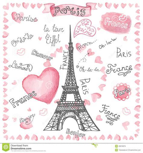 imagenes de i love you paris love in paris watercolor hearts lettering hand stock