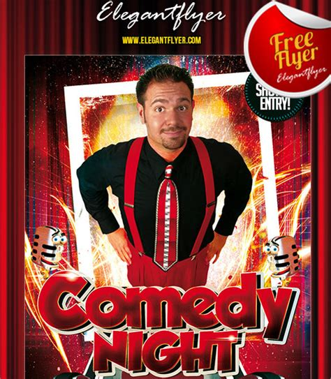 comedy show flyer template 10 download in vector eps psd