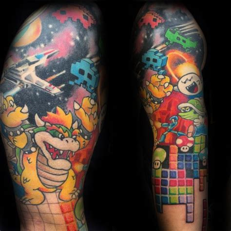 tetris tattoo 40 tetris designs for ink ideas