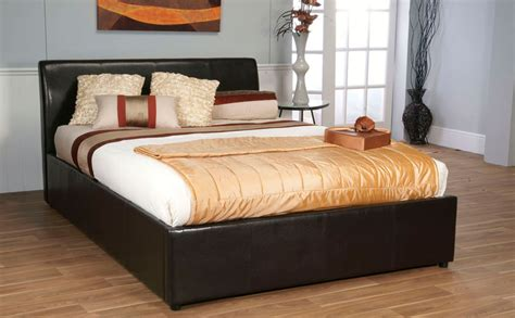 what size is a double bed details about ottoman storage bed faux leather double or king size bed mattress sale