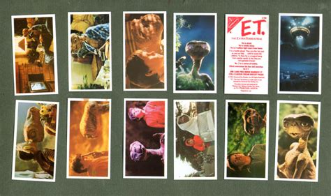 Trade Gift Card For Gift Card - collctable trade cards set e t 1983 cards re movie