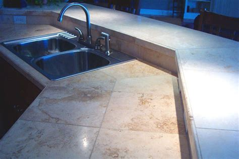 Travertine Tile Countertop by Travertine Tile Countertops Www Imgkid The Image