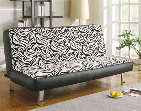 zebra print futon sleeper sofa bed coaster