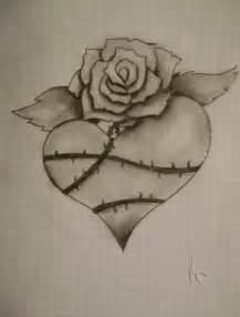 heart and rose drawing ildar 169 2016 mar 31 2012