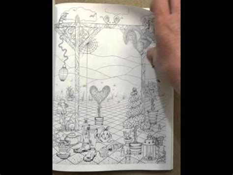 libro inky ocean creative colouring inky garden creative colouring with quests 3d paper flower volume 2 flip through youtube