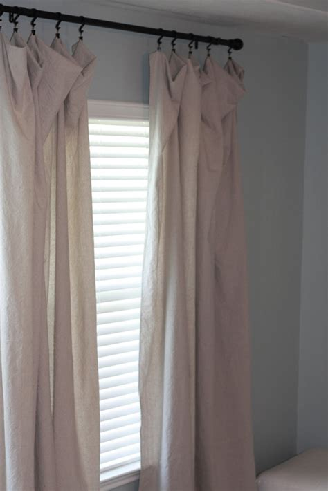 how to make curtains from drop cloths drop cloth curtains and paintings the picky apple