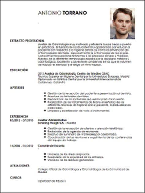 Modelo Curriculum Vitae Higienista Dental Modelo Cv Auxiliar De Odontolog 237 A Livecareer