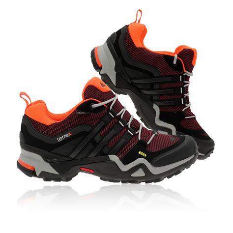 adidas terrex fast x womens black orange tex trail walking shoes trainers ebay