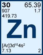 Periodic Table Zn by 1000 Ppm 181 G Ml Zinc For Icp Cgzn1 125ml