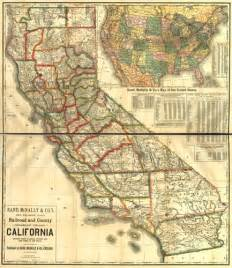 historical map of california railroad and counties ca