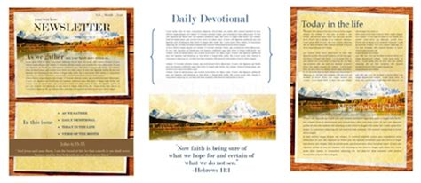 church magazine template the power of a printable newsletter template