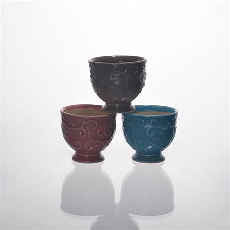 Different Candle Holders Ceramic Candle Holder With Different Colors Glazing Glass