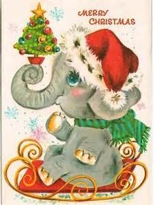 all about christmas elephant christmas card 1950 s or 60 s