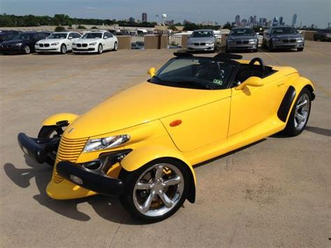 how cars run 2000 plymouth prowler on board diagnostic system purchase used 2000 plymouth prowler yellow hard to find convertible 2 door 3 5l in dallas texas