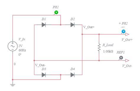 diode bridge in multisim circuits multisim live