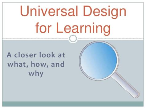universal design for learning powerpoint presentation udl powerpoint