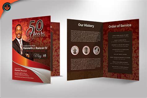 Crimson Plus Silver Pastor S Anniversar Design Bundles Anniversary Program Template