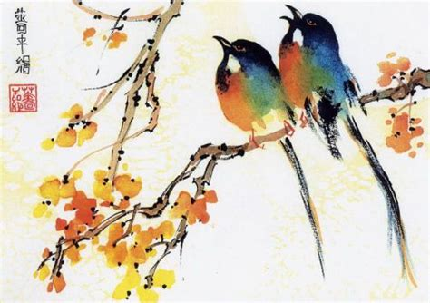 simple chinese watercolor paintings by rhoda seiden