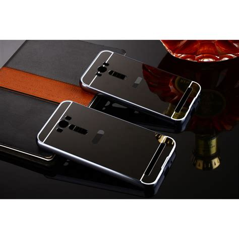 Bumper Asus Zenfone 5 Murah aluminium bumper with mirror back cover for asus zenfone 2 laser 5 5 inch black