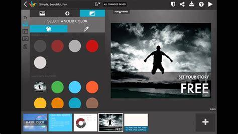 presentation software that inspires haiku deck haiku deck simple and free presentation tool youtube