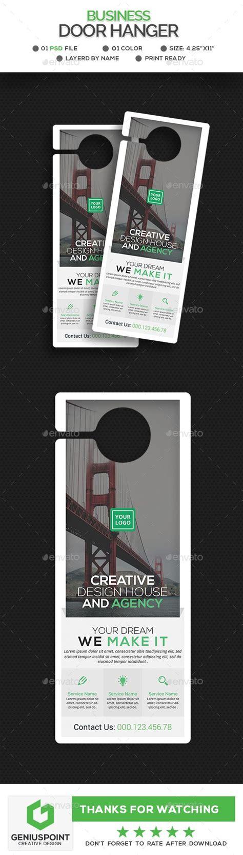 corporate door hanger template miscellaneous print