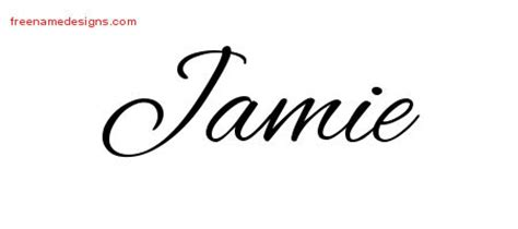 tattoo lettering for jamie cursive name tattoo designs jamie free graphic free name