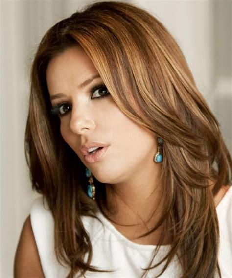 chic hairstyles for long straight hair eva longoria long hairstyles trendy straight hairstyle