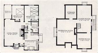 1000 sq ft basement floor plans 1937 better homes gardens bildcost house plan no 602