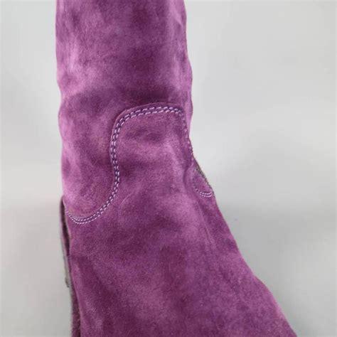 demeulemeester size 8 s purple suede crepe sole
